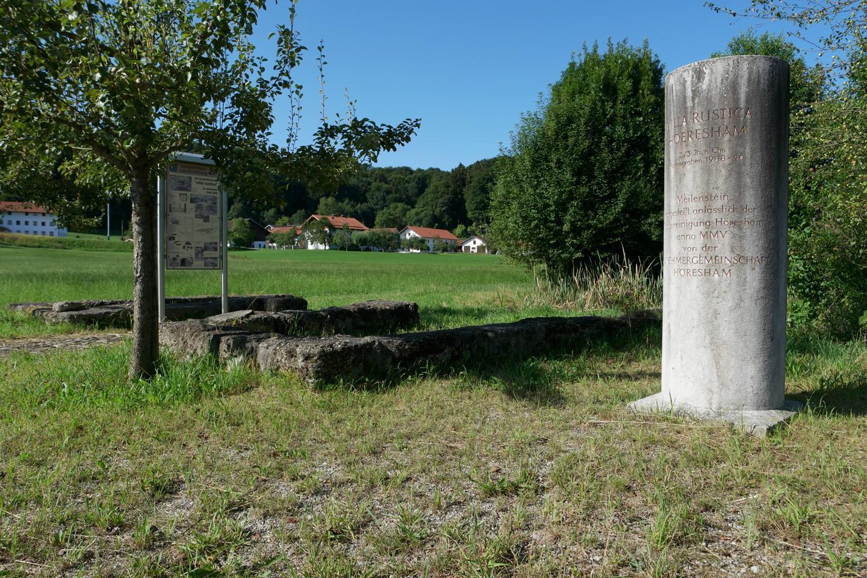 Überreste einer Villa Rustica bei Höresham