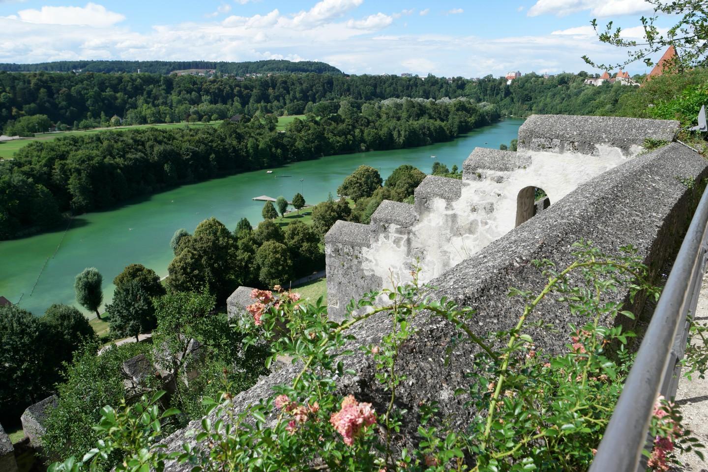 Blick von der Burg über den Wöhrsee