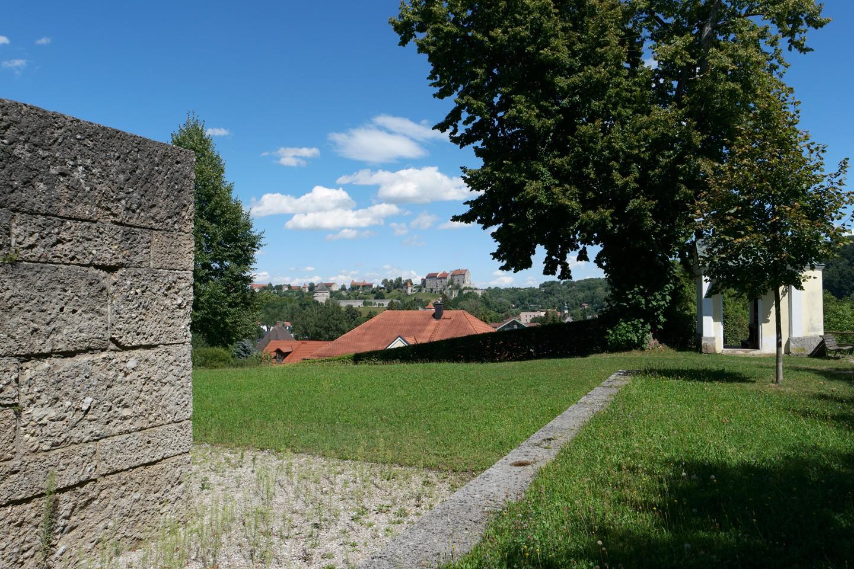 Blick von der Napoleonshöhe zur Burg