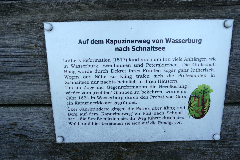 Kapuzinerweg Schnaitsee Infotafel