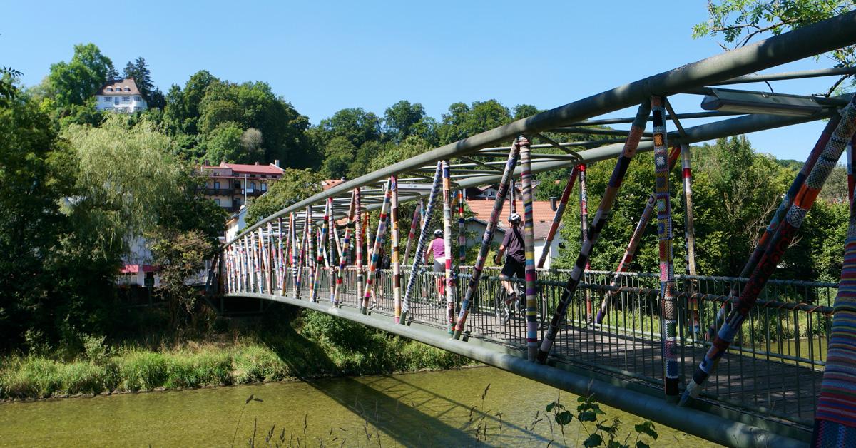 Brücke über die Alz in Trostberg