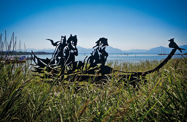 Kunstwerk Keltenboot Seebruck
