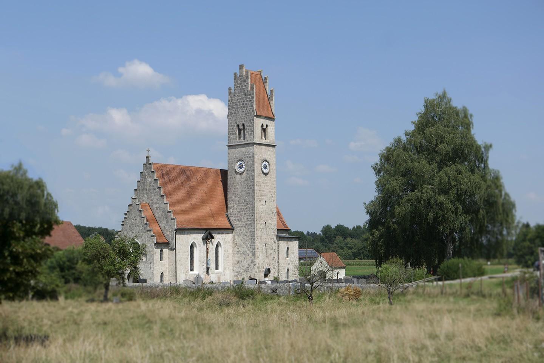 Die Kirche von Ensdorf
