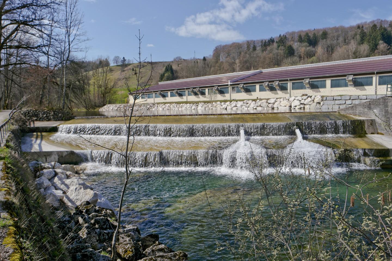 Wehranlage an der Weißen Traun bei Siegsdorf