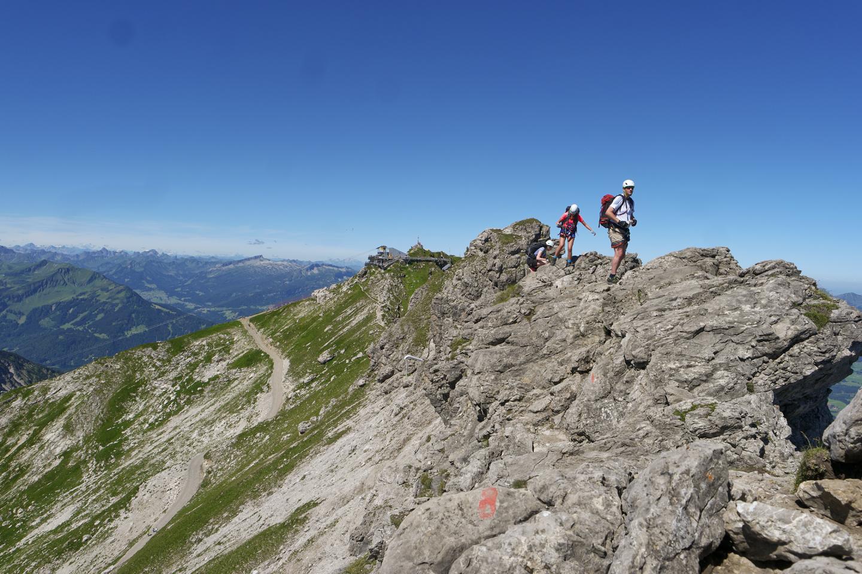 Hindelanger Klettersteig Wengenkopf : Über den hindelanger klettersteig auf großen daumen wo